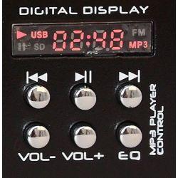 MIXER PROFESSIONALE COMPATTO 2 3 CANALI DISPLAY MP3 PLAYER + USB SD - 5