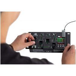 MIXER PROFESSIONALE COMPATTO 3 CANALI DISPLAY MP3 PLAYER + USB