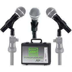 SET MICROFONI VOCALI PROFESSIONALI KARAOKE PARLATO con valigia + 3 clip