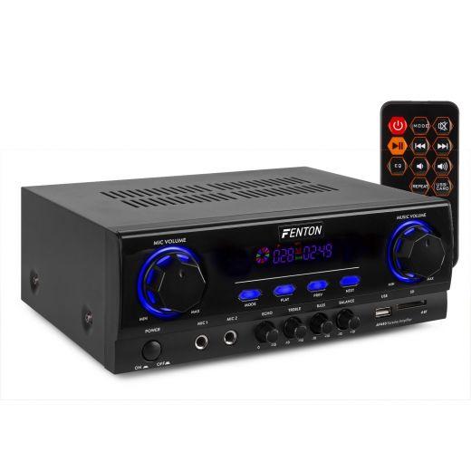AMPLIFICATORE KARAOKE BLUETOOTH STEREO USB SD DISPLAY 400 W