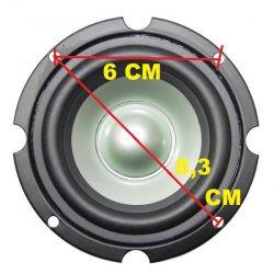 MIDRANGE PROFESSIONALE 9 CM METALLO 8 Ohm MIDWOOFER 60W RICAMBIO CASSE medio basso - 3