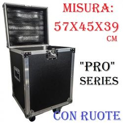 FLIGHT CASE DJ DISCOTECA 57x45x39 cm PALCO UNIVERSALE MULTIFUNZIONE effetti luce dischi minuteria