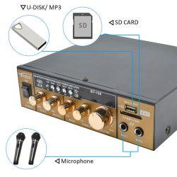 AMPLIFICATORE KARAOKE BLUETOOTH STEREO HIFI 2 CANALI DISPLAY USB SD GOLD ORO