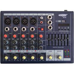 MIXER AUDIO PROFESSIONALE SLIM 6 CANALI USB DISPLAY EFFETTI REPET - DELAY