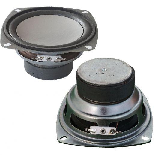 2 MIDRANGE ALTOPARLANTE WOOFER (medio basso) MID 30Wx2 RICAMBIO 10 CM 100 MM 6-8 Ohm