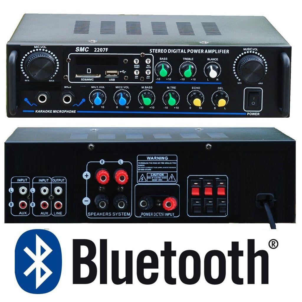 "AMPLIFICATORE KARAOKE 5 CANALI ""DELUXE"" STEREO 500W BLUETOOTH USB SD FM - 1"