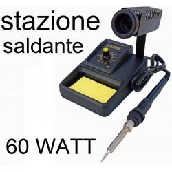STAZIONE SALDANTE 60w STAGNO SALDATORE + MULTIMETRO TESTER laboratorio