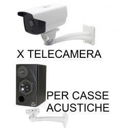 STAFFA TELECAMERA DA PARETE MURO SUPPORTO CASSE ACUSTICHE MONITOR 25 CM METALLO