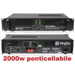AMPLIFICATORE FINALE DI POTENZA SKY-2000 MK2 PA PROFESSIONALE art. 172056 - 1