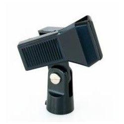 CLIP PINZA SOSTEGNO FERMA MICROFONO X ASTE MICROFONICHE PVC portamicrofono