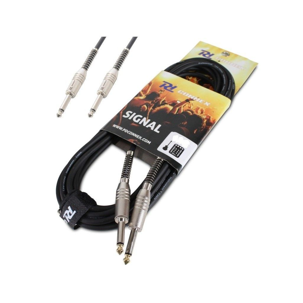 CAVO AUDIO PROLUNGA JACK 6,3 MM 6 MT. X CHITARRA CASSE AMPLIFICATE - 1