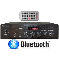 AMPLIFICATORE COMBO 100V / 4-16 OHM 400W BLUETOOTH + TELECOMANDO + DISPLAY + USB/SD
