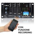 MIXER 3 CANALI CON BLUETOOTH + DISPLAY + USB/SD + FUNZIONE RECORDING MIX