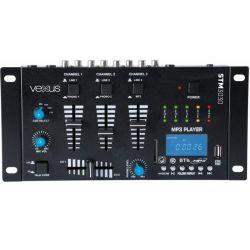 MIXER 3 CANALI CON BLUETOOTH + DISPLAY + USB/SD + FUNZIONE RECORDING MIX - 3