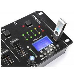 MIXER 3 CANALI CON BLUETOOTH + DISPLAY + USB/SD + FUNZIONE RECORDING MIX - 4