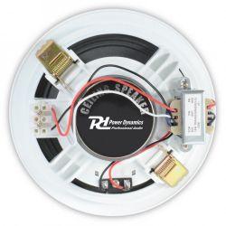 IMPIANTO AUDIO ATTIVO FILODIFFUSIONE 100V amplificatore + 8 altoparlanti incasso + matassa 100 mt. - 5