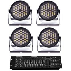 SET LUCI DMX COMPOSTO DA : 4 par 36 led + 1 mixer dmx ART. SETDMX1 - 1