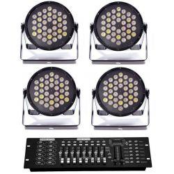 SET LUCI DMX COMPOSTO DA : 4 par 36 led + 1 mixer dmx ART. SETDMX1 - 1