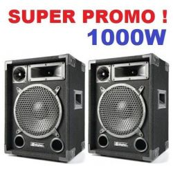 "COPPIA CASSE ACUSTICHE PASSIVE 1000W SPEAKERSET WOOFER (10"") 3 VIE"