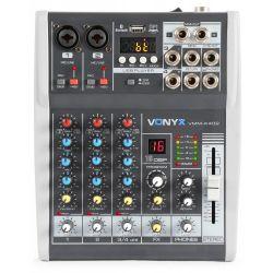 MIXER AUDIO KARAOKE DJ STUDIO PROCESSORE DI EFFETTI FX BLUETOOTH USB DISPLAY - 1