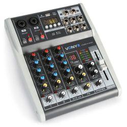 MIXER AUDIO KARAOKE DJ STUDIO PROCESSORE DI EFFETTI FX BLUETOOTH USB DISPLAY