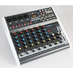 MIXER AUDIO 8 CH. KARAOKE DJ STUDIO CON EFFETTI FX BLUETOOTH USB DISPLAY