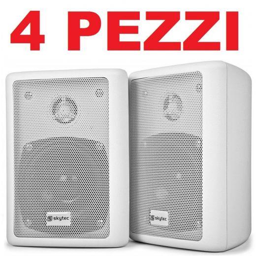 4 PEZZI (2 cp.) CASSE ACUSTICHE PASSIVE CON STAFFE muro parete soffitto - 1