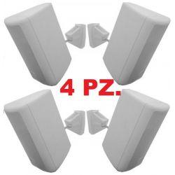 4 PEZZI (2 cp.) CASSE ACUSTICHE PASSIVE CON STAFFE muro parete soffitto