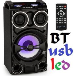 "Cassa acustica amplificata attiva 300w 10"" Bluetooth usb-sd e led - 1"