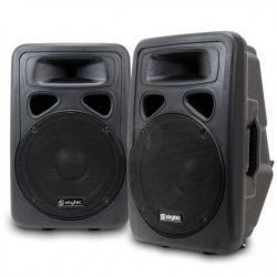 """IMPIANTO AUDIO COMPLETO ATTIVO AMPLIFICATO 1200W: casse 12"""" + 2 stativi + mixer + cavi 8 metri"""