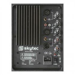 """IMPIANTO AUDIO COMPLETO ATTIVO AMPLIFICATO 1200W: casse 12"""" + 2 stativi + mixer + cavi 8 metri - 4"""