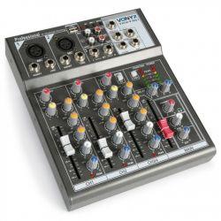 """IMPIANTO AUDIO COMPLETO ATTIVO AMPLIFICATO 1200W: casse 12"""" + 2 stativi + mixer + cavi 8 metri - 6"""