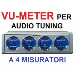 CAR METER MISURATORE AUTO TUNING AUDIO dB - VOLTMETRO - TEMP. AMPLIFICATORE 1 DIN - 1