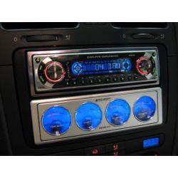 CAR METER MISURATORE AUTO TUNING AUDIO dB - VOLTMETRO - TEMP. AMPLIFICATORE 1 DIN - 3