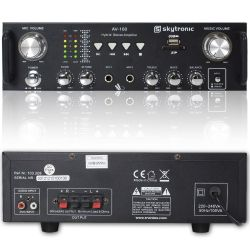 AMPLIFICATORE PER KARAOKE STEREO 2 CANALI USB SD 300 WATT MAX ART. 103208