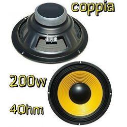 """COPPIA WOOFER RICAMBIO CASSE ALTOPARLANTI PREDISPOSIZIONI AUTO 6,5"""" 16,5 CM 200W 4 OHM - 1"""