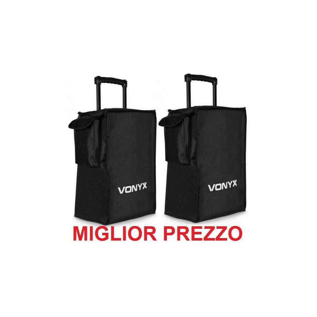 coppia CUSTODIA PROTEZIONE COPERTURA SACCA X CASSE AMPLIFICATE PASSIVE 57x35x32 cm - 1