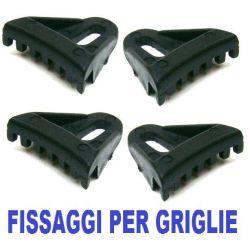 4 PZ. STAFFA FISSAGGIO GRIGLIE PER CASSE ACUSTICHE ATTIVE O PASSIVE