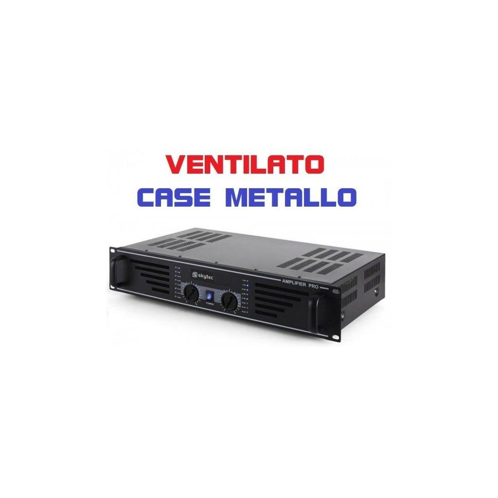 AMPLIFICATORE PROFESSIONALE VENTILATO 960W stereo BLACK SERIES art 172032 - 1
