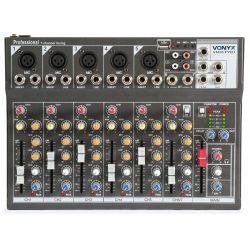 MIXER AUDIO PROFESSIONALE 7 CANALI USB CON ECHO-DELAY dj karaoke pianobar - 1