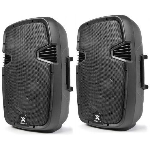 COPPIA CASSE AMPLIFICATE 1200W WOOFER 31 CM IN ABS art cp178027