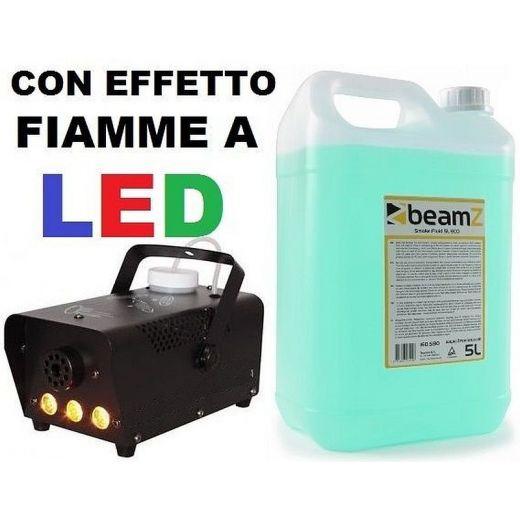 MACCHINA FUMO CON EFFETTO FIAMME A LED 700W + 5 LT. LIQUIDO REGALO - 1