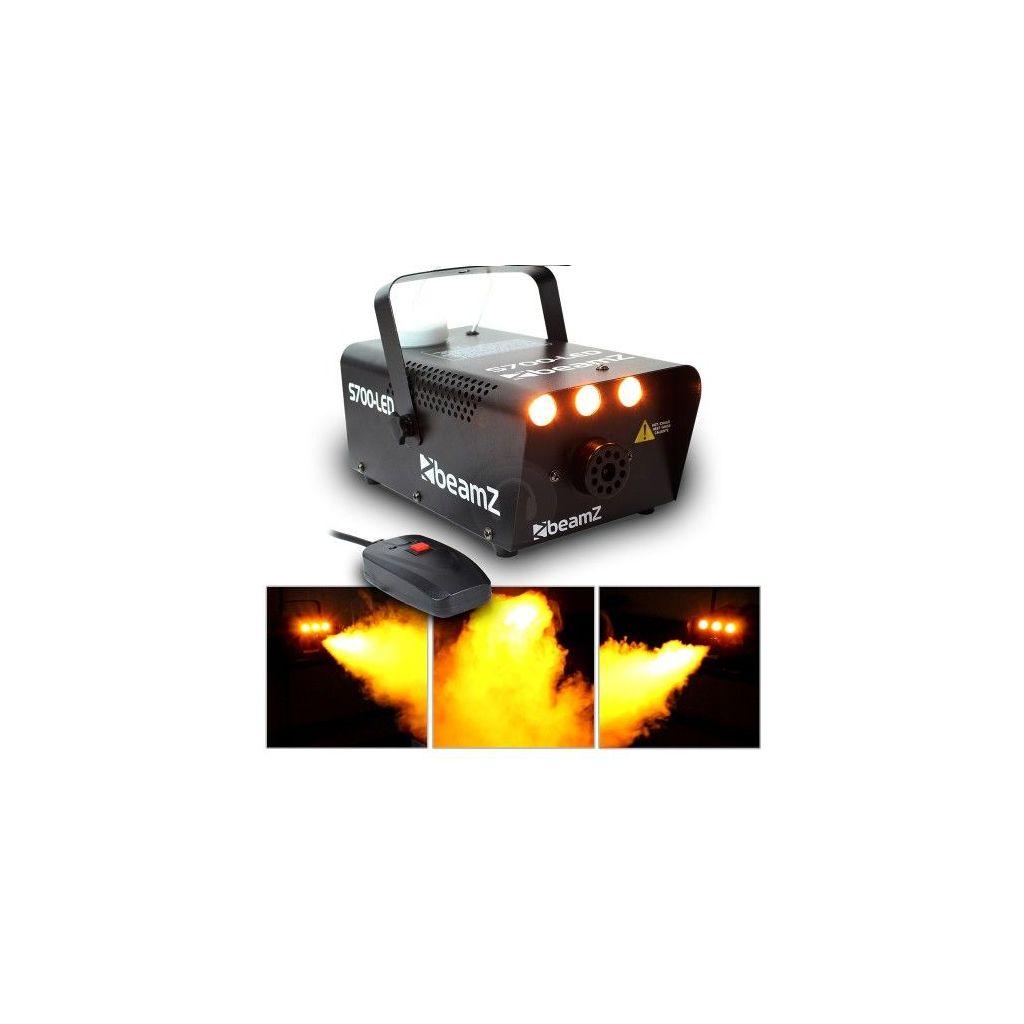 MACCHINA FUMO CON EFFETTO FIAMME A LED 700W + TELECOMANDO art 160426 - 1
