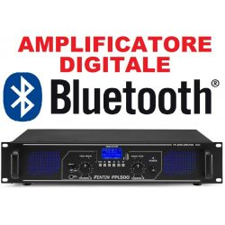 AMPLIFICATORE DIGITALE STEREO 500W BLUETOOTH USB DISPLAY TELECOMANDO