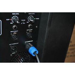 """SUBWOOFER AMPLIFICATO PALCO 18"""" (46 CM) IN ABS PROFESSIONALE 1600W VENTILATO con uscite attive - 7"""
