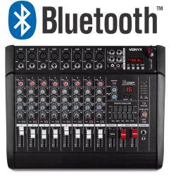 MIXER AUDIO AMPLIFICATO 1000W 8 canali CON EFFETTI FX DSP+ USB dj pianobar - 1