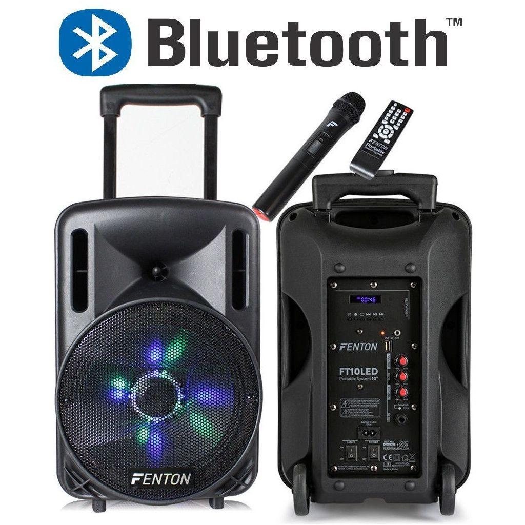 """CASSA AMPLIFICATA 450W 10"""" BLUETOOTH + BATTERIA + MICROFONO WIRELESS + USB - 1"""