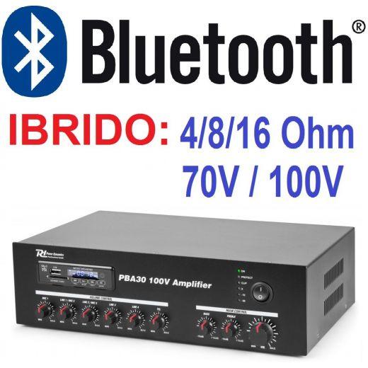 AMPLIFICATORE LINE IBRIDO 4-8-16 OHM 70V 100V PROFESSIONALE FILODIFFUSIONE - 1