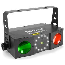 EFFETTO LUCI PSICHEDELICHE DMX DJ PALCO 3in1 strobo + laser + led RGBW