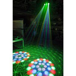 EFFETTO LUCI PSICHEDELICHE DMX DJ PALCO 3in1 strobo + laser + led RGBW - 4